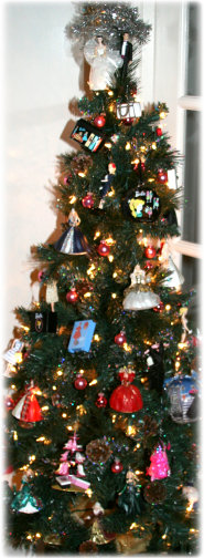 Chrstimas Tree with Barbie Ornaments