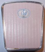 pink Barbie Scale set at 110 pounds