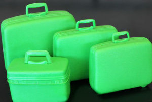 Green Samsonite Luggage for Barbie