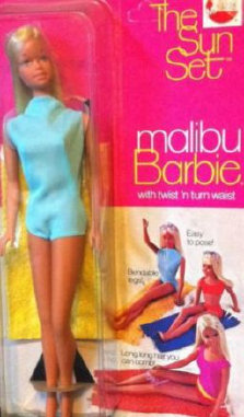 1067 Sunset Malibu Barbie from 1971-1972 in her box