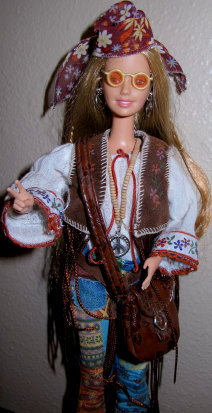 Peace and Love 70s Barbie