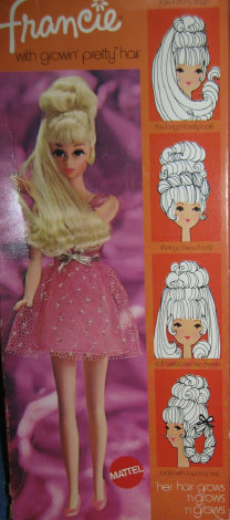 Number 1129 Growin Pretty Hair Francie Box from 1970